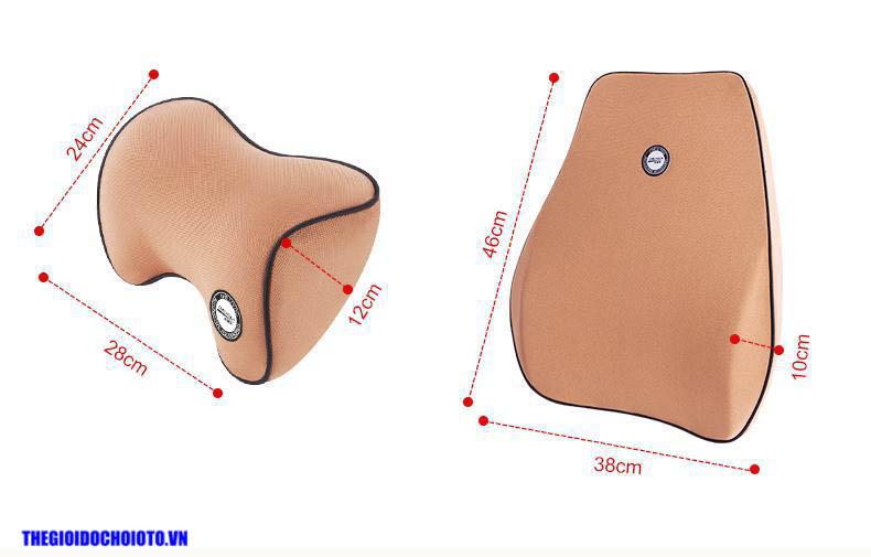 Bộ gối đầu tựa lưng ô tô cao su non  ( mẫu 18)