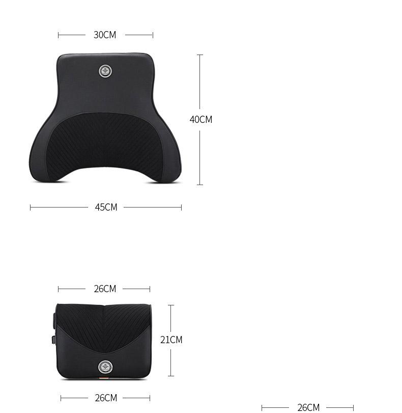 Bộ gối đầu tựa lưng cao su non có massage chạy điện ( mẫu 36)