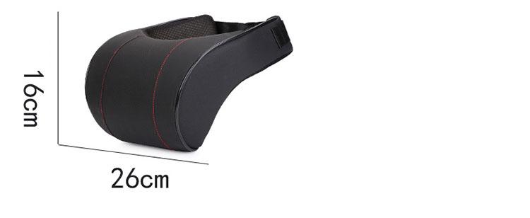 Bộ gối đầu tựa lưng ô tô cao su non bọc da, mẫu tựa thấp ( mẫu 5)