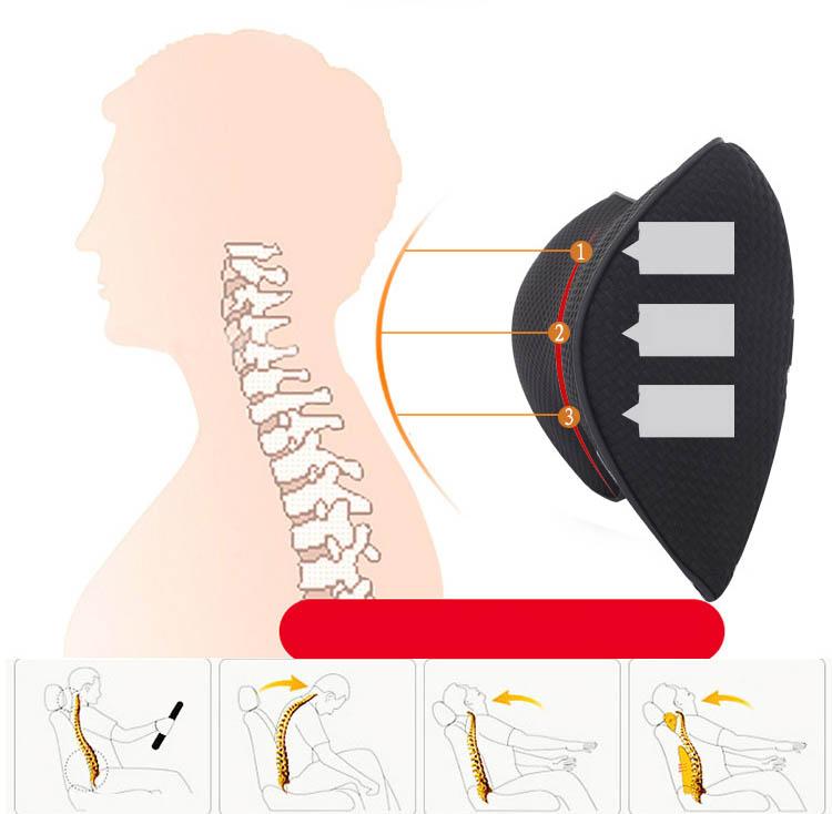 Bộ gối đầu tựa lưng ô tô cao su non  (mẫu 9)