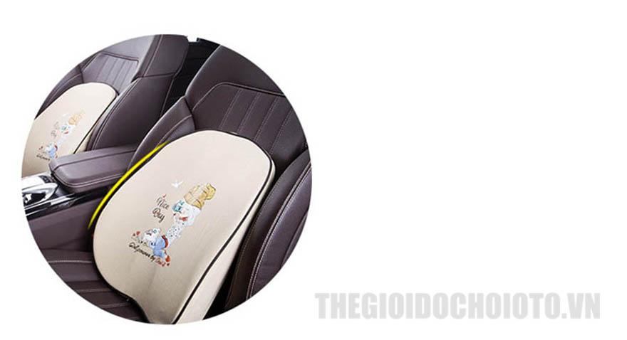 Bộ gối tựa đầu và gối tựa lưng ô tô cao su non mẫu 2