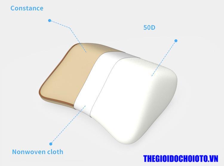Bộ gối tựa đầu và gối tựa lưng ô tô cao su non mẫu 3
