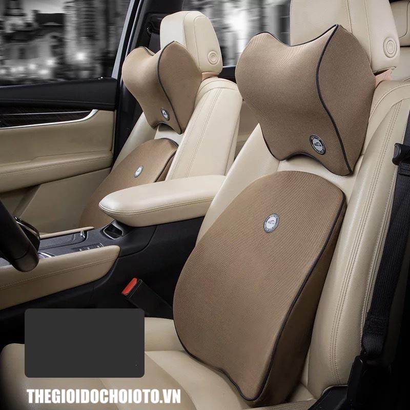 Bộ gối tựa đầu tựa lưng ô tô cao su non  (mẫu 15)
