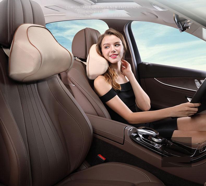 Gối đầu và tựa lưng cao su non cho ô tô kiểu dáng mới (mẫu 19)