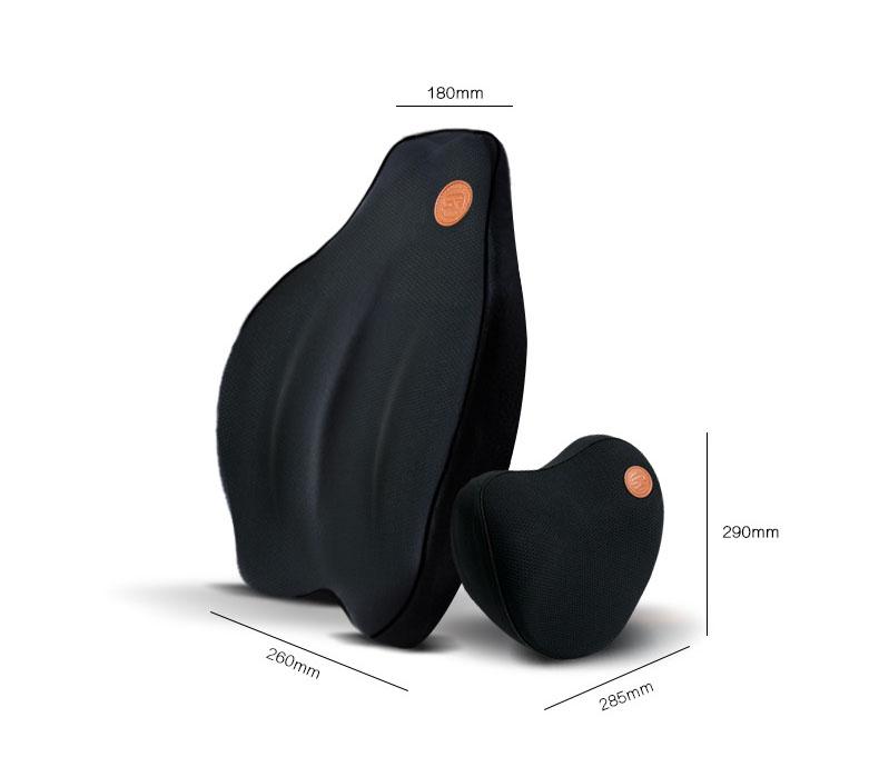 Gối đầu và tựa lưng cao su non cho ô tô  (mẫu 24)