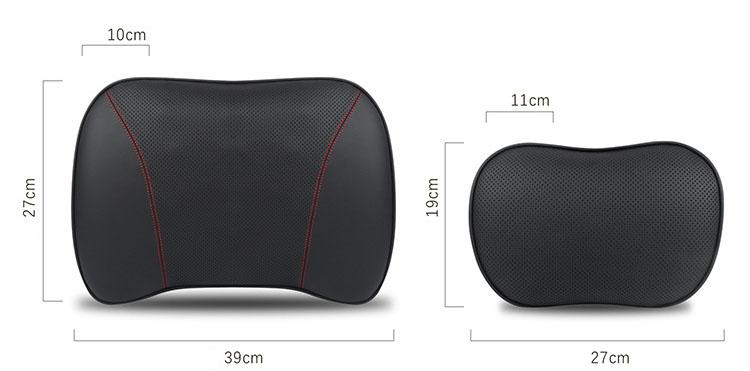 Gối đầu và tựa lưng cao su non bọc da cao cấp cho ô tô  (mẫu 26)
