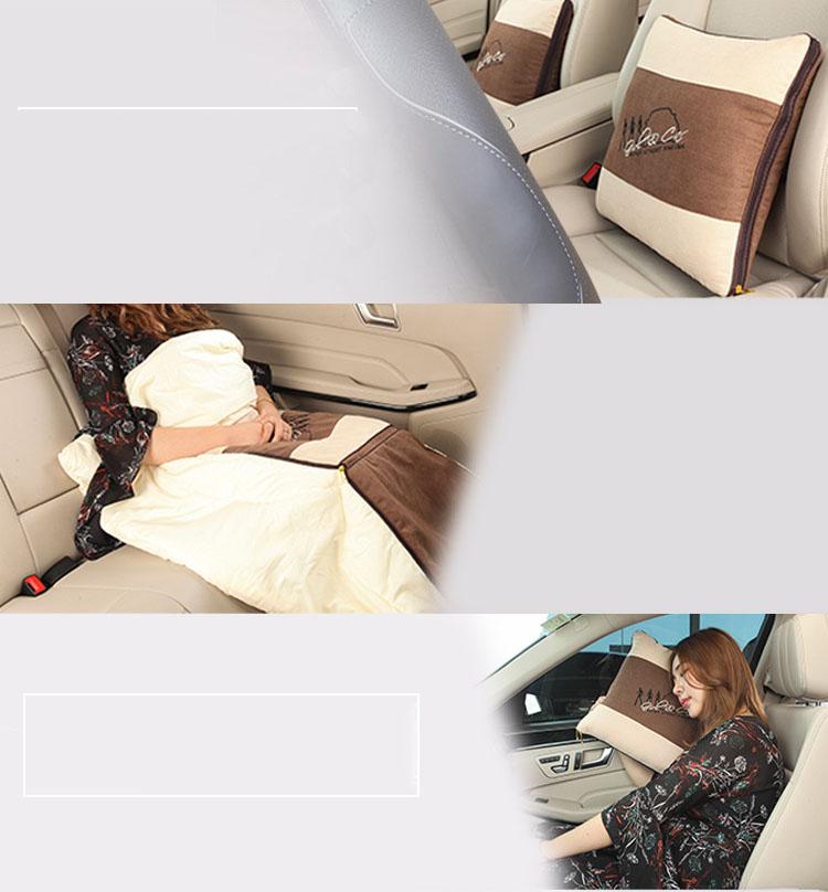 Gối đầu và tựa lưng ô tô kiêm chăn  (mẫu 29)