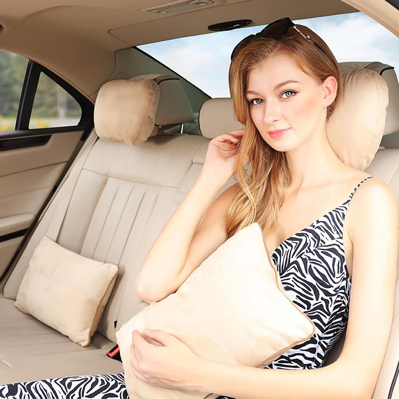 Gối tựa đầu, gối dựa, gối ôm cho ô tô ghế sau (mẫu 21)