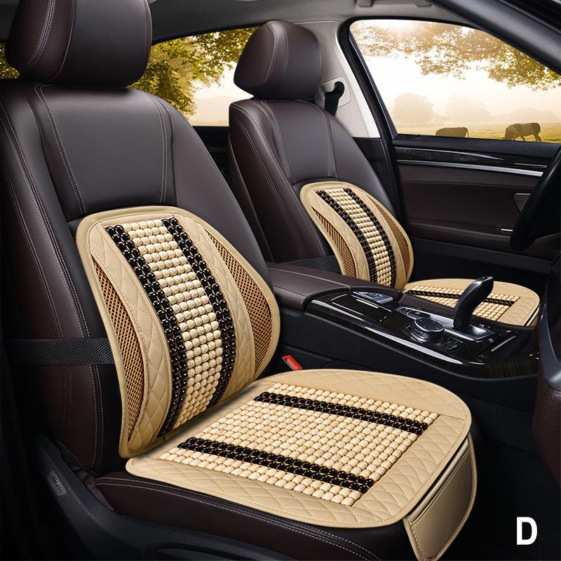 Tấm lót ghế và tựa lưng ô tô có hạt gỗ massage cao cấp