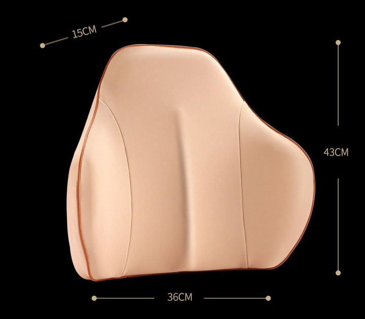 Tựa lưng cao su non cho ô tô hỗ trợ phần lưng dưới (mẫu 22)