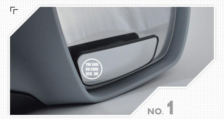 Gương cầu lồi hình chữ nhật xóa điểm mù gắn gương ô tô xoay 360 độ