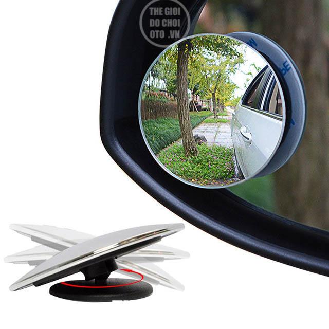 Gương cầu lồi 360 gắn gương chiếu hậu ô tô xóa điểm mù