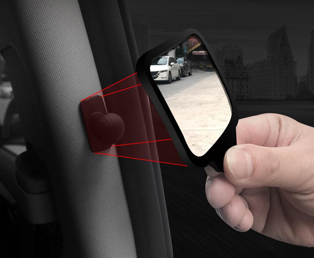 Gương quan sát phía sau cho hàng ghế sau chống va chạm khi mở cửa