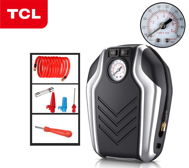 Máy bơm lốp ô tô đồng hồ kim chính hãng TCL