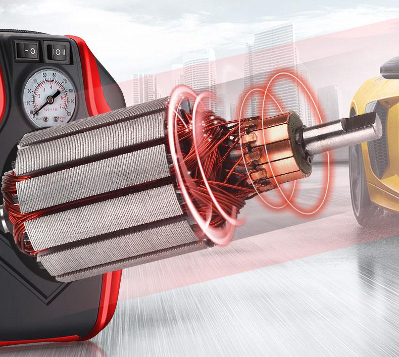 Máy bơm lốp ô tô đồng hồ kim nâng cao màu đỏ chính hãng TCL