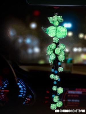Dây treo hồ lô dạ quang trang trí xe ô tô (mẫu 9)