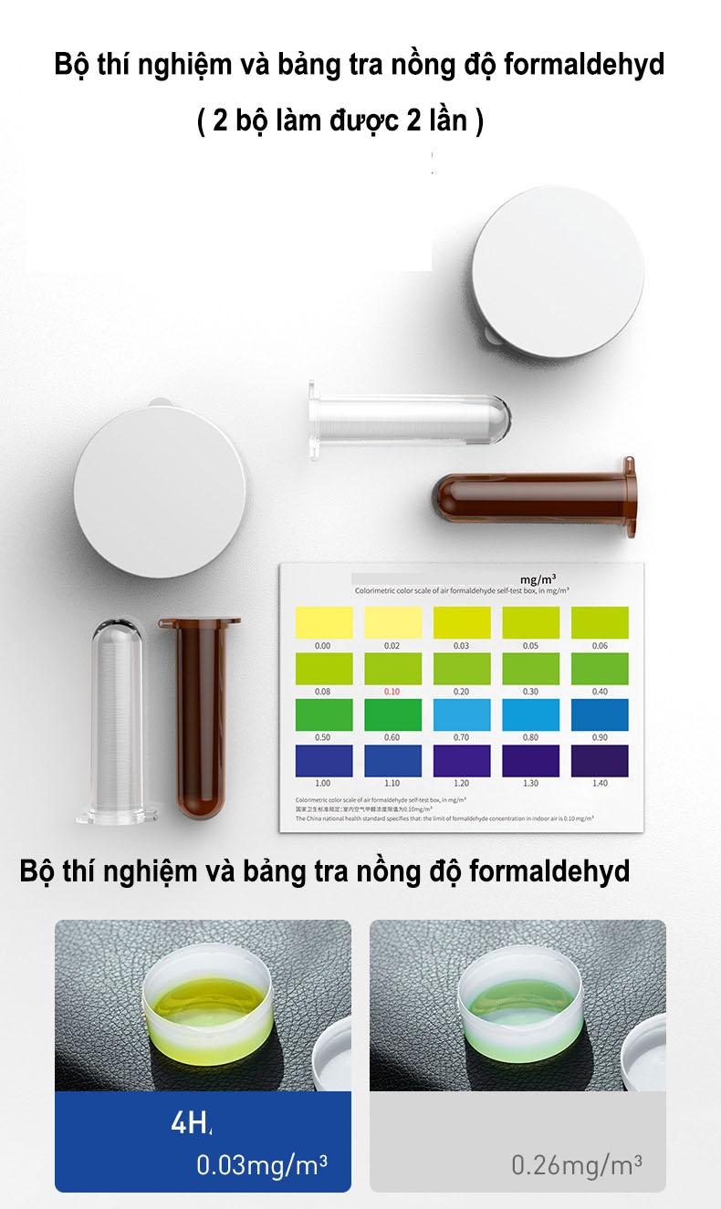 Hộp lọc không khí khử mùi, tạo mùi thơm lọc bỏ khí độc formaldehyd