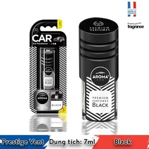 Nước hoa cài cửa gió ô tô Aroma Prestige Vent  Black - Pháp