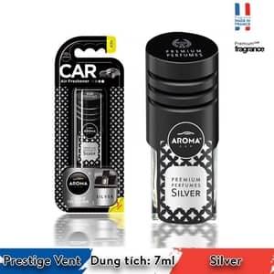 Nước hoa cài cửa gió ô tô Aroma Prestige Vent  Silver - Pháp