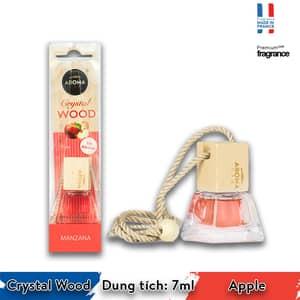 Tinh dầu treo xe ô tô Aroma Crystal Wood - Apple - Pháp