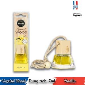 Tinh dầu treo xe ô tô Aroma Crystal Wood Vanilla - Pháp