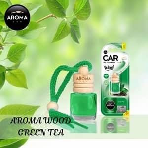 Tinh dầu treo xe ô tô Aroma Car Wood - Green Tea - Pháp
