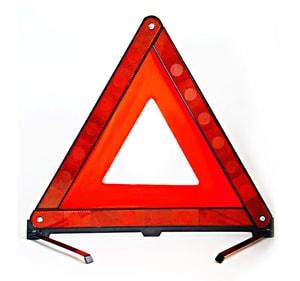 Biển tam giác phản quang cảnh báo nguy hiểm cho ô tô