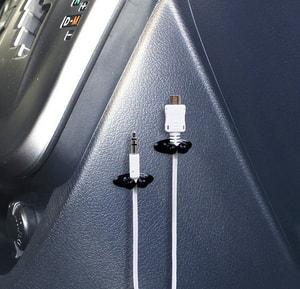 Bộ 8 chiếc ghim dây sạc điện thoại cho xe ô tô