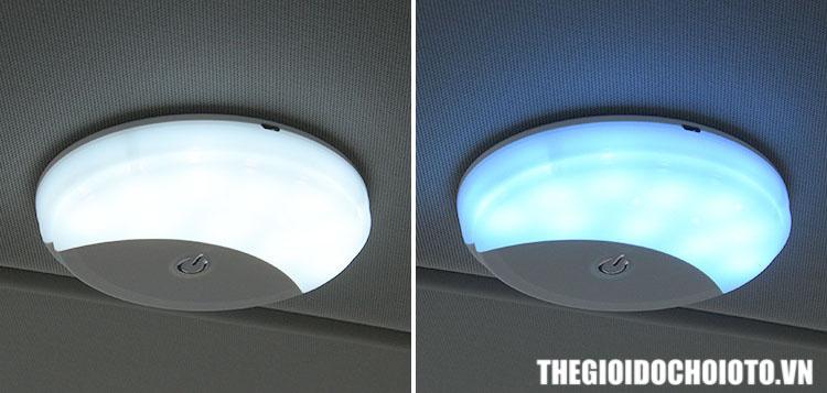 Đèn led dán trần xe ô tô, sạc được