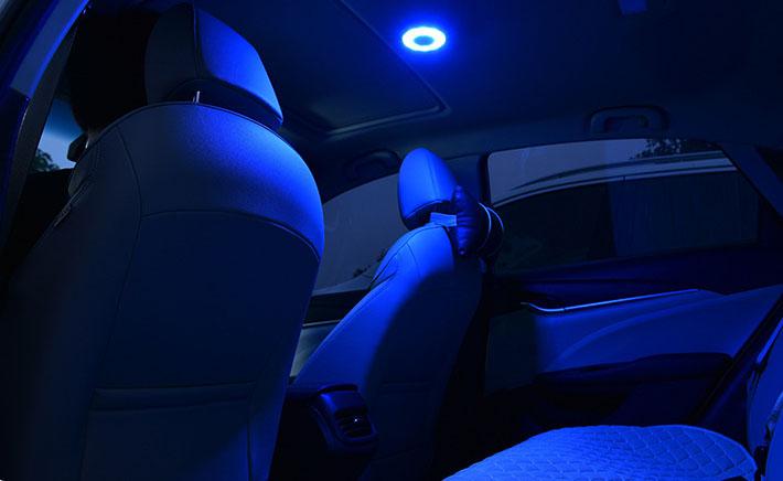 Đèn led dán trần xe ô tô có thể đổi 3 màu ( mẫu 5 )