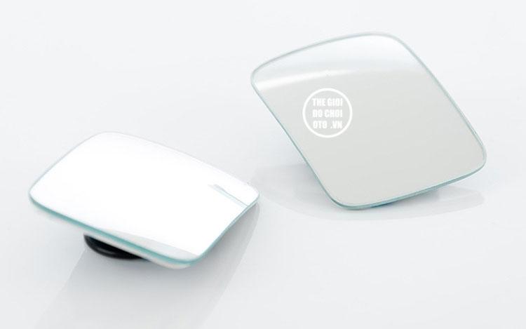 Gương cầu lồi dạng chữ nhật xoay 360 độ gắn gương ô tô (mẫu 2)
