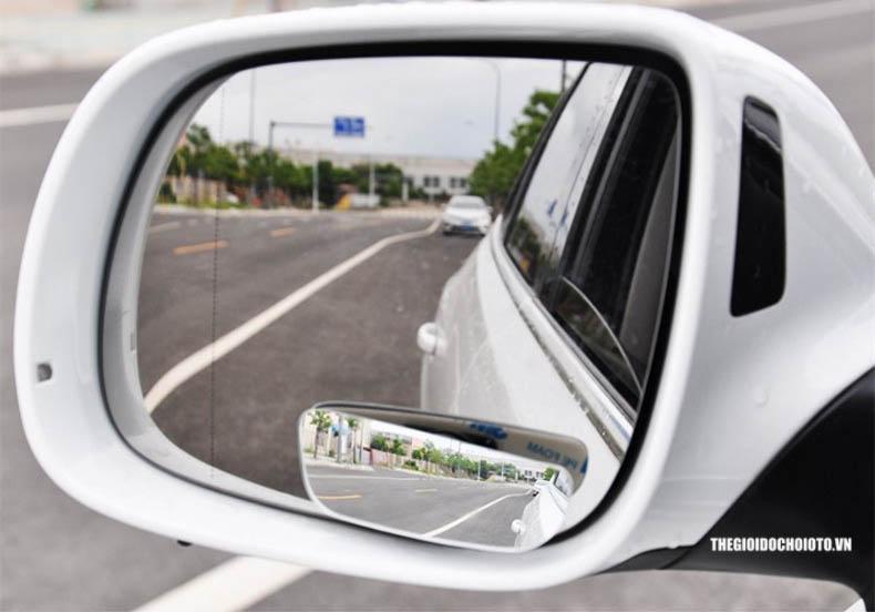 Gương cầu lồi dạng chữ nhật xoay 360 độ gắn gương ô tô (mẫu 4)