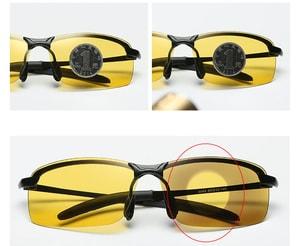 Kính chống lóa ô tô ban đêm mắt vuông, mắt kính đổi màu phân cực HD (mẫu 5)