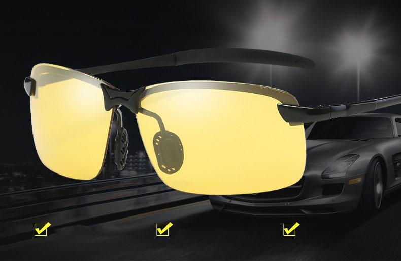 Kính chống lóa ô tô ban đêm mắt vuông, mắt kính đổi màu phân cực HD