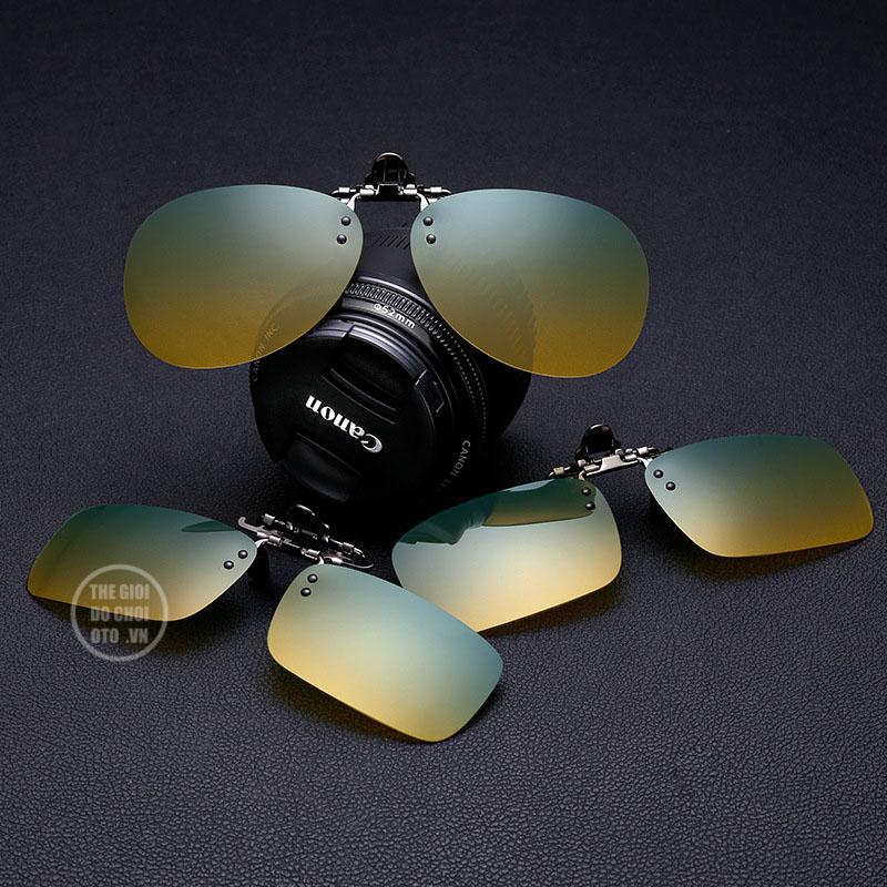 Kính đi đường ban đêm dạng kẹp, kẹp vào kính thường hoặc kính cận, kính viễn