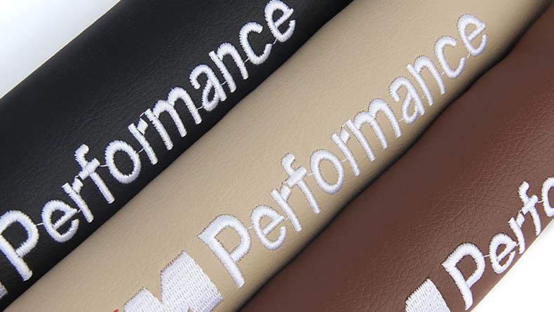 Miếng lót bịt khe ghế ô tô có chữ performance