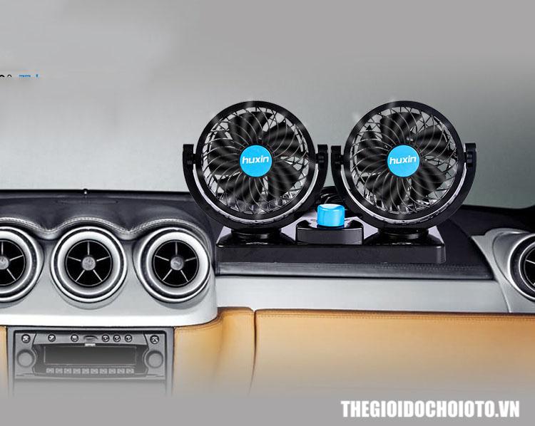 Quạt đôi 12V, 24V để taplo ô tô