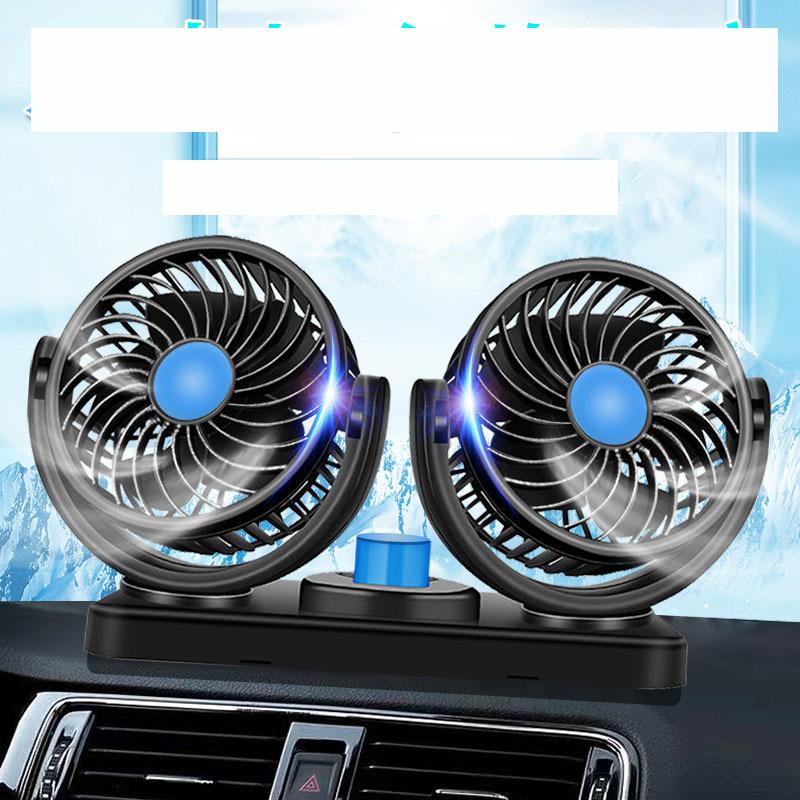 Quạt đôi 12V, 24V cắm điện tẩu ô tô