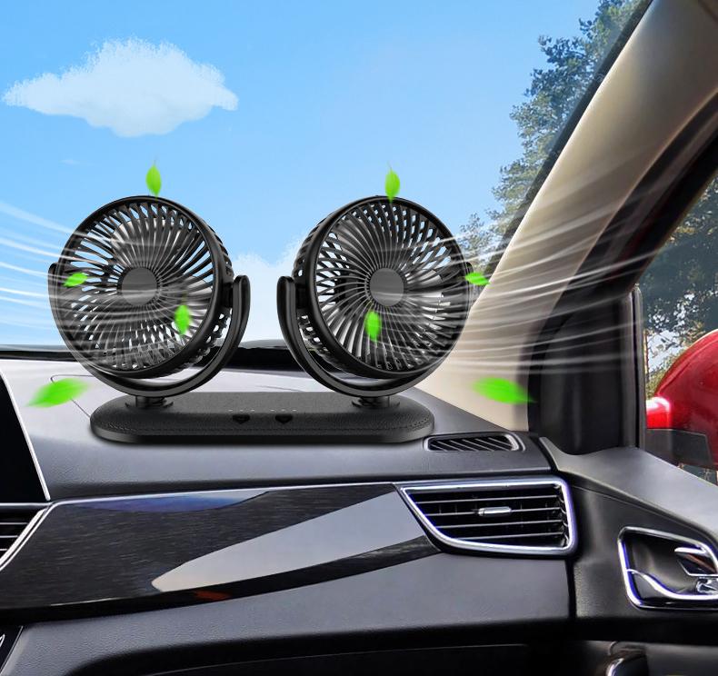 Quạt đôi cắm điện usb ô tô cao cấp ( mẫu 6 )