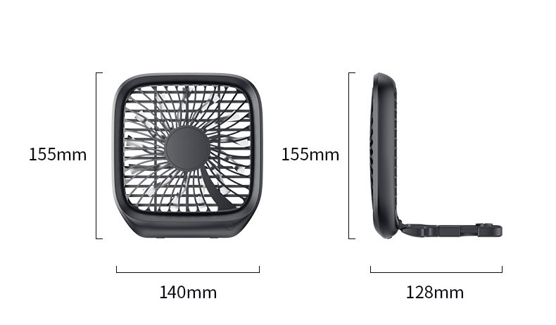 Quạt Baseus dùng cho hàng ghế sau ô tô điện USB chạy êm mát