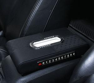 Hộp đựng khăn giấy trên ô tô có bảng số điện thoại ( mẫu 8 )
