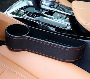 Khay để đồ khe ghế ô tô có chỗ để cốc (mẫu 18)