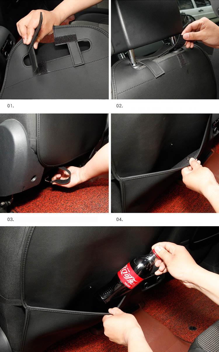 Tấm, túi treo sau lưng ghế bảo vệ ghế chống trẻ em đá vào (mẫu 12)