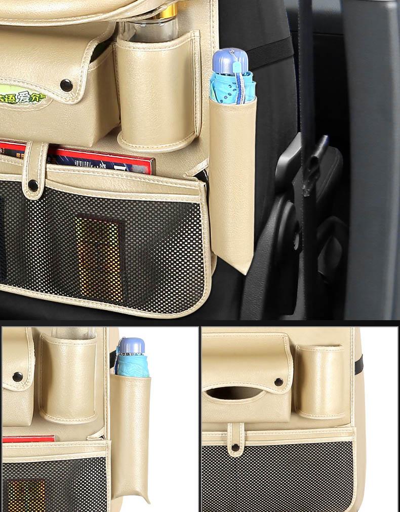Túi treo sau ghế ô tô cao cấp để ipad có 4 cổng usb