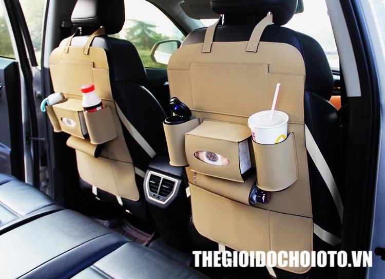 Túi đựng đồ treo sau ghế ô tô da cao cấp