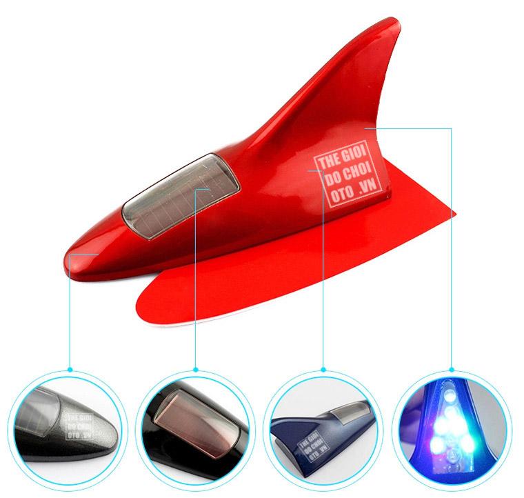Vây cá mập có đèn led trang trí ô tô mẫu 4